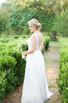 Bride in the parterre